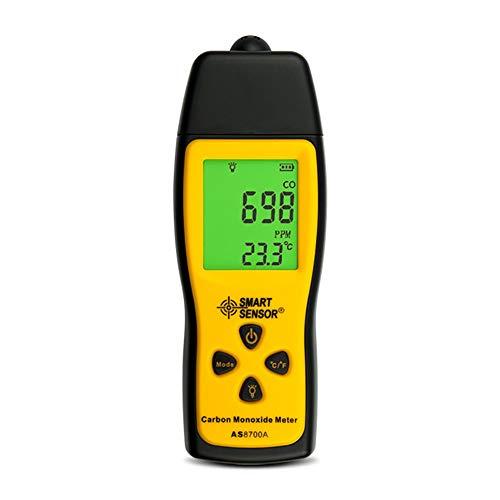 LILIS Carbon Monoxide Meter Kohlenmonoxid-Meter, hochpräziser Kohlenmonoxid-Detektor, tragbarer CO-Gasleck-Detektor, LCD-Anzeigeton und Lichtalarm 0-1000PPM