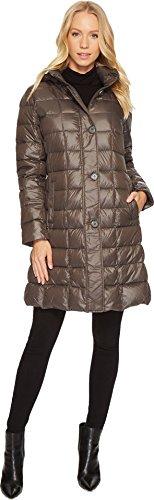 LAUREN Ralph Lauren Womens Button Front Packable w/ Hood Concrete LG One Size