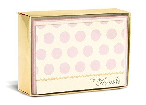 Boxed Notes: Blush Dots – Gruß- und Geschenkkartenbox mit Kuverts: Rosa Punkte