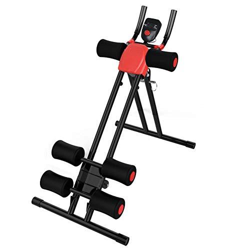 DnKelar Profi Bauchtrainer, 5 -Fach verstellbar AB Trainer, klappbares Bauchmuskeltrainer mit Knieauflage, Fitnessgerät mit LCD-Display, Belastung bis 150Kg, Bauchmuskeltraining für Zuhause