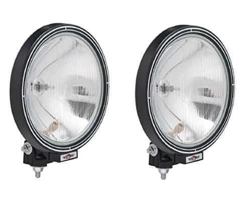 Preisvergleich Produktbild LKW Zusatz Nebel Scheinwerfer Halogen Weiß Neu Hochwertig 2x 12 / 24 V 22, 5 cm