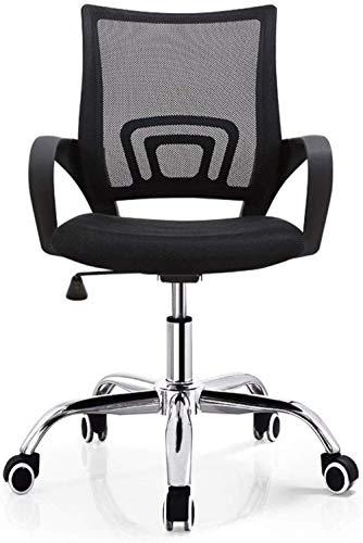 Lesbye Spielstuhl Bürostuhl Schwarz Drehbarer Bürostuhl Solider Computerstuhl Büromöbel Atmungsaktives Netz Spielstuhl