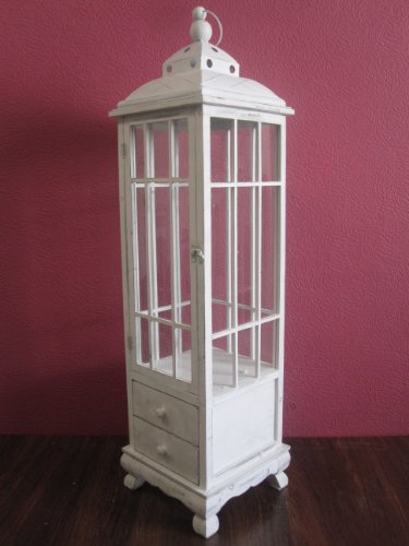 Holz Laterne Antik weiß riesige 126 cm groß Tolle Deko