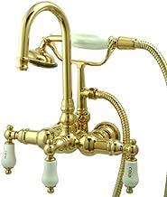 Kingston Brass CC9T2 Vintage Leg Tub Filler with Hand Shower, Polished Brass