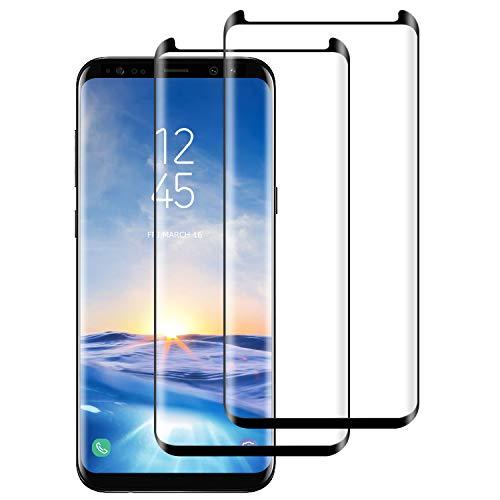 DASFOND [2-Pack Cristal Templado Samsung Galaxy S8 Plus Protector de Pantalla Samsung Galaxy S8 Plus Vidrio Templado con[9H Dureza][Sin Burbujas] [Alta Definición] [Anti-Huella][Cobertura Completa]