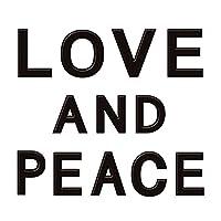 蒔絵シール 文字 「LOVE AND PEACE 黒」