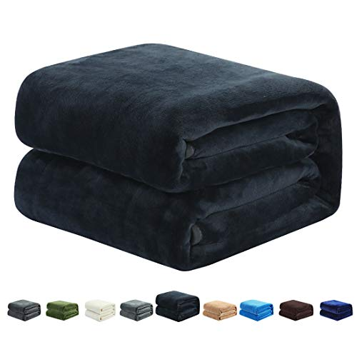 COTTONHOUSE Fleece Blanket Queen Size Super Soft Cozy Lightweight Throw Blankets for All Season,...