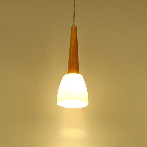 ZAKRLYB. Lampadari design lampade a sospensione Lampade a sospensione Nordic plafoniere/lampadari in legno/Cafe/ristorante plafoniera in legno massello con paralume in vetro
