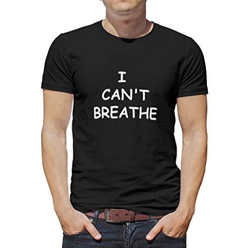 I Can't Breathe - Camiseta de manga corta para hombre (poliéster, diseño de texto en inglés)