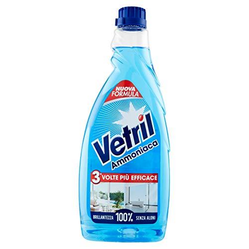Vetril Multiuso e Vetri, Ammoniaca, Ricarica, 650ml