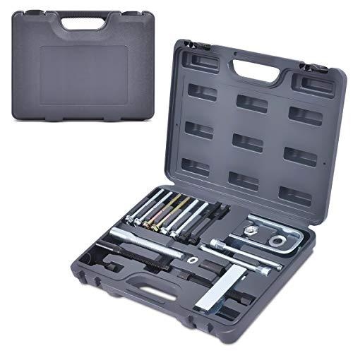 DREAMADE Lenkrad Abzieher mit Koffer, Lagerabzieher Werkzeug Abzieher 19 TLG, Radlager Auszieher Polradabzieher für Auto, Werkzeugabzieher aus Stahl