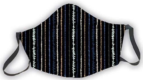 Mascarilla reutilizable negra estampado rayas colores original divertida elegante hombres mujeres