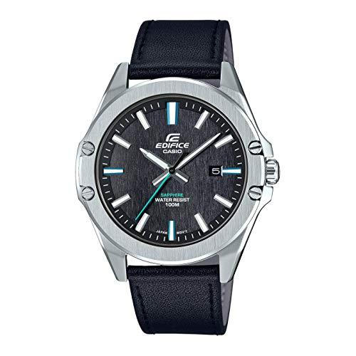 Casio Herren Analog Quarz Uhr mit Leder Armband EFR-S107L-1AVUEF