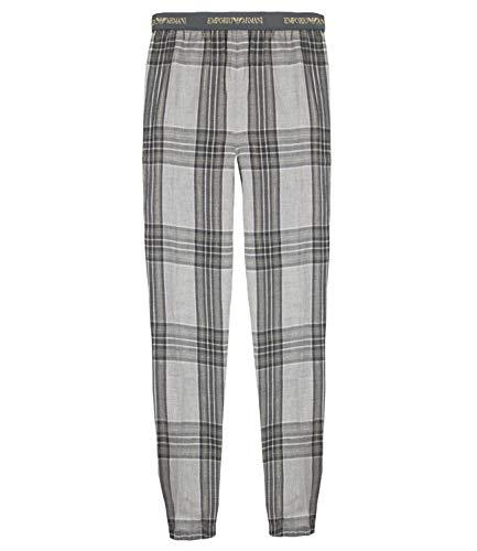 Emporio Armani Damen Pyjamahose Homewear Hose Pants with Cuffs 8A277-163939, Farbe:Grau, Wäschegröße:L, Artikel:-12144 Grey Tartan