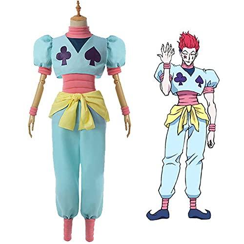 GGOODD Hunter × Hunter Anime Cosplay Disfraz Hisoka Hombres Ropa de Actuación Escénica Fiesta De Carnaval De Halloween Cosplay