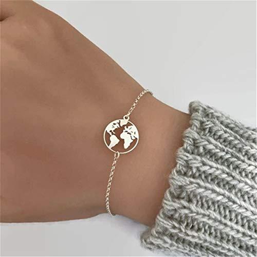 Weiy Mode Kreative Weltkarte Anhänger Armband Frauen Mädchen Charming Spezielle Einzigartige Design Armreif Armband Schönen Schmuck Zubehör Geschenk