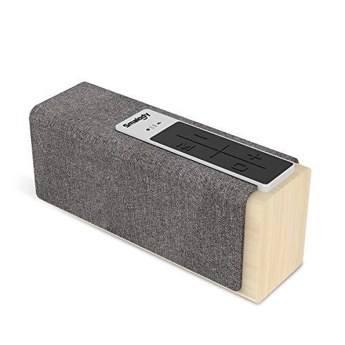 Smalody - Altavoces Bluetooth, 20 W, gran potencia, portátil, inalámbrico, caja de sonido estéreo de graves con ranura TF AUX, función TWS