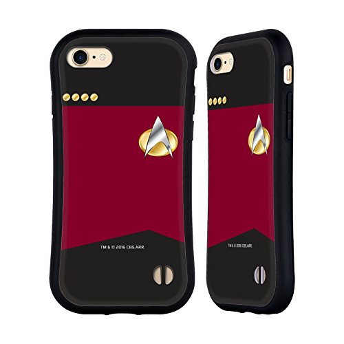 Head Case Designs Officially Licensed Star Trek Captain Uniforms and Badges TNG Hybrid Case Compatible with Apple iPhone 7 / iPhone 8 / iPhone SE 2020