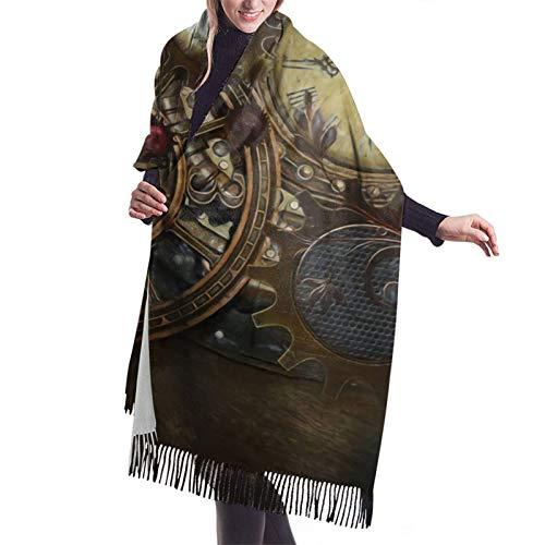 Invierno Steampunk relojes bufanda chales abrigos para mujer vestido de noche dama...