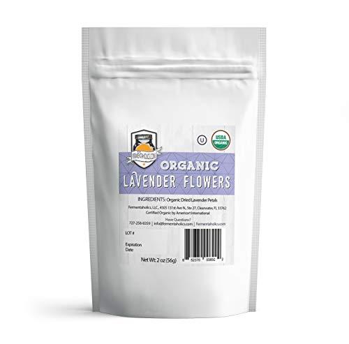 Fermentaholics USDA Certified Organic Loose Leaf Lavender Petals Tea - Perfect For Kombucha Brewing