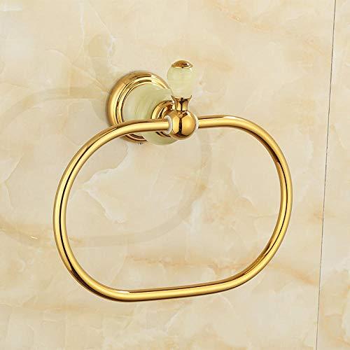 Toallero Cobre natural jade oro toalla anillo circular anillo toallero baño hardware colgante-oro zafiro