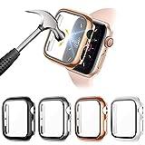 FITA [4 Pièces] Protection PC Coque Compatible avec Apple Watch SE/6/5/4 44MM Protection Écran en...