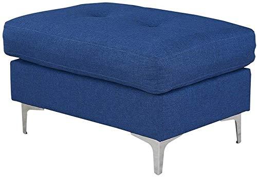 YRRA Sofá Lino de 2 plazas de sofá Sofá Sofá de Esquina Sofá Sofá Sofá Sofá Sofá en Azul Setteado para la Sala de Estar de la Sala de Estar (2 plazas sin escabel)-Solamente Solo