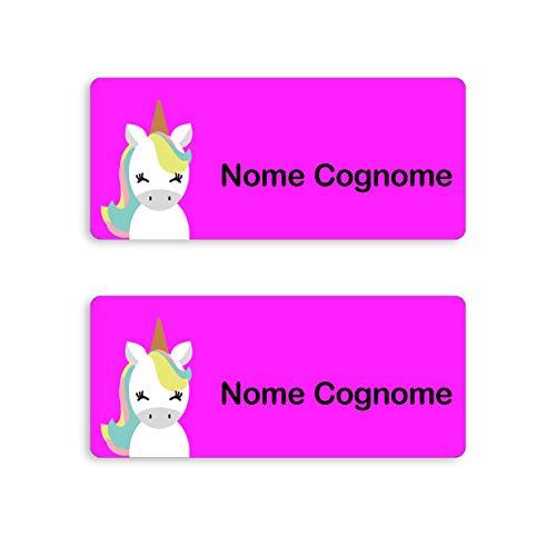 My Nametags 56 - Etichette adesive con nome della scuola, vestiti e scarpe (Unicorno)