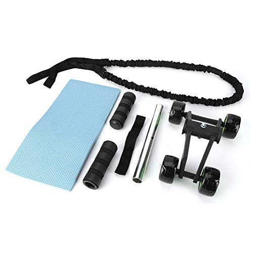DALL 4 Rad Bauch Fitness Roller Workout System Bauchtrainer Knieschutz Pad Trainingsroller