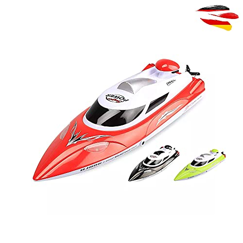HSP Himoto Highspeed RC ferngesteuertes Speedboot mit 2,4GHz digital vollproportional, Aufrichtfunktion, Boot Racing Rennboot-Modell mit Top-Speed Komplett-Set