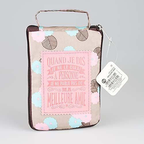 Kontiki 04224000009 Les Petites Nanas-Sac Shopping personnalisé Meilleure Amie, Polyester, Multicolor, Taille Unique