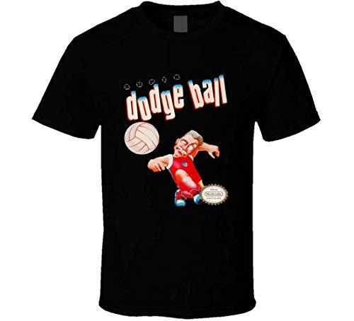 Super Dodge Ball Retro NES Video Game Box Art T Shirt Nero XXL