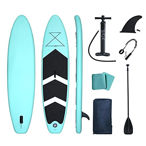 FASZFSAF Sup Stand Up Paddle Board Inflable 60' Accesorios Completos Remo Ajustable Bomba, Asiento Kayak, Mochila de Viaje, Correa Bolsa Impermeable
