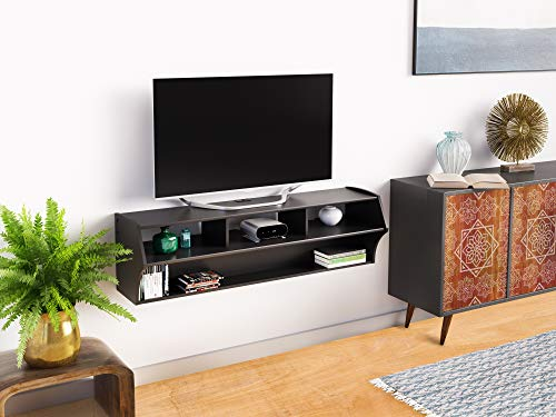 "Black Altus Plus 58"" Floating TV Stand"