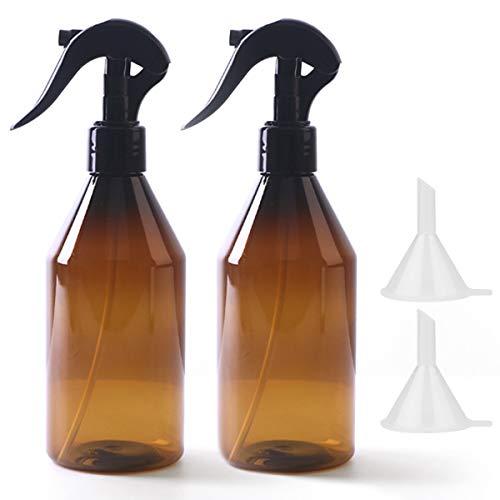 Botellas de espray vacías de 300 ml de ámbar de 10 onzas con pulverizador de agua para limpieza de plantas, alcohol, jardinería (2 unidades)