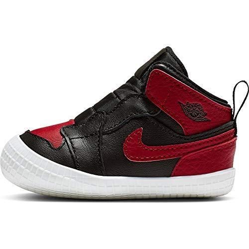 Nike Jordan 1 Crib Bootie - Black/Varsity red-White, Größe:4C