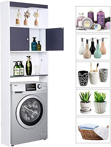 XPuing Waschmaschinenschrank überbauschrank Barschrank Hochschrank Schrank Badeegal Waschmaschine Badschrank mit Tür Waschmaschinenregal 24.6 * 7.67 * 70.07 in (62,5 * 19,5 * 178 cm) (Grau)