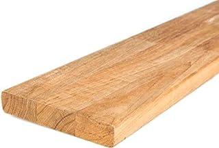 comprar comparacion Tablones de madera de teca de BioMaderas®, 120 mm de ancho, 21 mm de grosor, galvanizados en cuña.