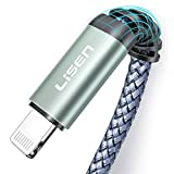 iPhone Charger Cable (10ft / 3m) LISEN USB A to Lightning Cable 10 Feet, Durable Nylon Braided Fast Charging Cord Compatible with iPhone 11/Pro/X/Xs Max/XR/8 Plus /7 Plus/6/ iPad