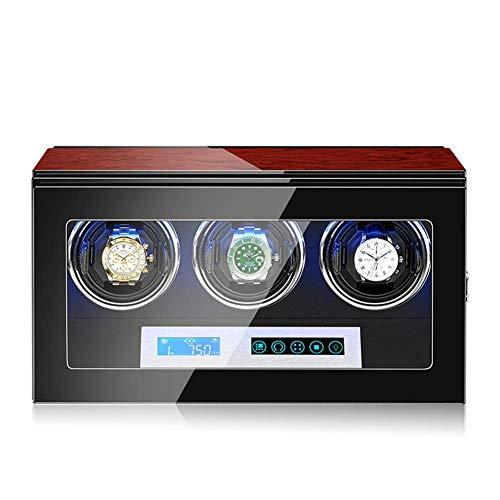 Enrollador de reloj automático con motor silencioso, iluminación LED, pantalla táctil, 15 configuraciones de modo de rotación, adecuado para relojes de pulsera para hombres y mujeres (tamaño: 3 + 0)