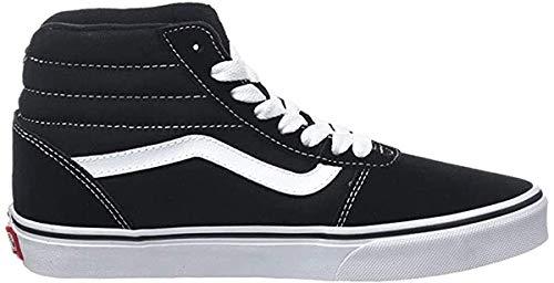 Vans Herren Ward Hi Canvas Hohe Sneaker, Schwarz (Black/White 187), 44 EU