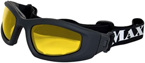 Maxx Sunglasses Chaos Goggles Black Frame with Yellow Lenses