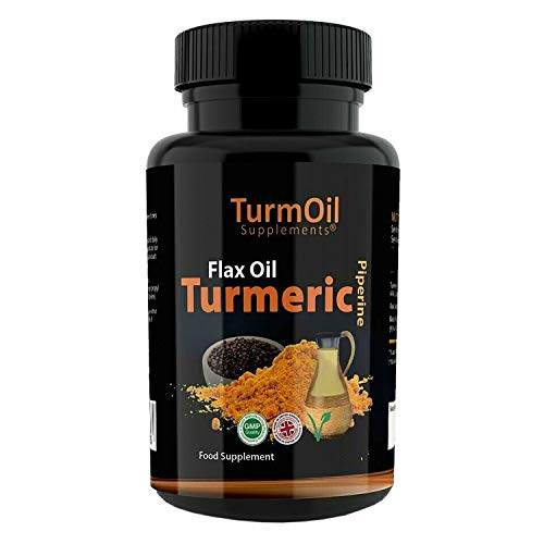 The Golden Paste Company TurmOil Capsules, Human Grade Pet Supplements with Turmeric, Flax Oil and Piperine - 180pk