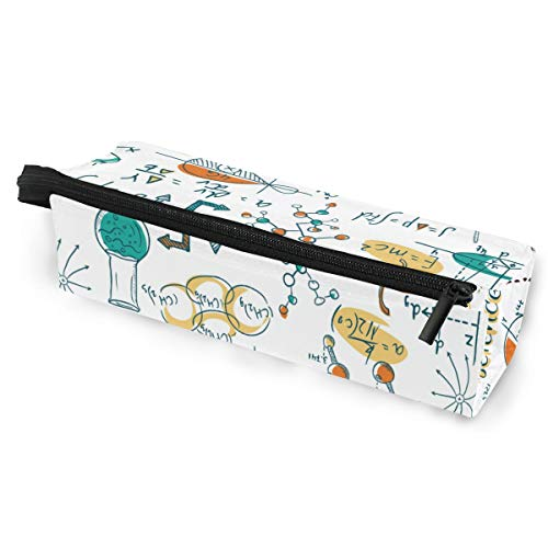 Tarity Science Lab Objects Doodle Pencil Case Organizer Holder Pen Stationery Pouch Pencil Box Glasses Bag Case With Zipper For Girls Boys Women Men Kids