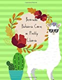 Composition notebook College ruled : Bermuda Bahama come on Pretty LLAMA green cover: Perfect Gift For boys women girlfriend friend teens school LLAMA lovers