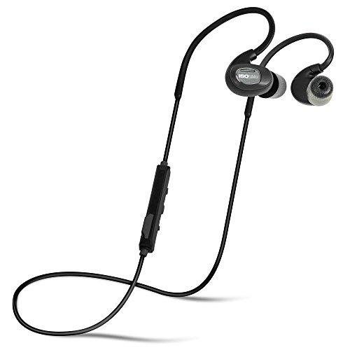 ISOtunes PRO Bluetooth Earplug Kopfhörer, 27 dB Rauschunterdrückung Bewertung, 10-Stunden-Batterie, Noise Cancelling Mikrofon, OSHA konform Bluetooth Gehörschutz (Matt-Schwarz)