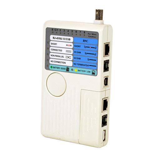 OKAYOU便利なツール4で1ネットワークケーブルテスターRj45 / Rj11 / Usb/Bnc LanケーブルCat5 Cat6テスター多機能試験機