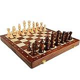 Profesional Tablero de ajedrez de Calidad Ajedrez Set de ajedrez Plegable de madera Plegable tradicional clásico clásico HORRA MADERA SÓLIDO PIEZAS DE MADERA SOLIDA DE NIÑOS DE NIÑOS DE NIÑOS VIAJE AJ