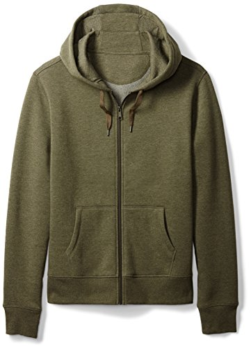 Amazon Essentials Men's Full-Zip Hooded Fleece Sweatshirt, Olive Heather, X-Large