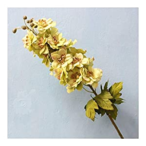 JiaQinHe Remains 80CM Artificial Flower Latex Delphinium Flower Plants Wedding Festival Decoration Flower Hotel Living Room Home Decoration Never (Color : Green)